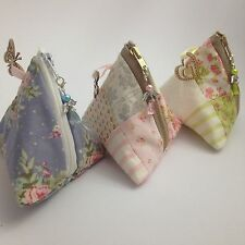 Pretty Handmade Coin Purses / Zippered Pouches - Patchwork /Quilted /Fully Lined