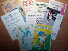 UEFA Cup 1992 - 2000 MATCH PROGRAMMES UPDATED APRIL 2017
