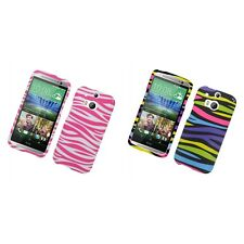 For HTC One M8 Hard Phone Case Design Rubberized Snap-On Cover
