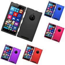 For Nokia Lumia 830 Hard Snap-On Rubberized Phone Skin Case Cover