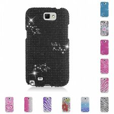 For Samsung Note 2 N7100 Case Diamond Bling Luxury Fashion Cute Hard Cover