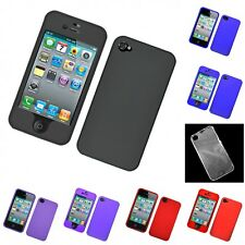 For Apple iPhone 4/4S Hard Snap-On Rubberized Phone Skin Case Cover