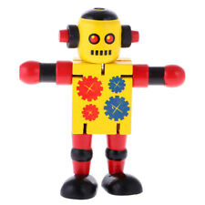 Kids Wooden Walnut Joint Robot Toy Christmas Gift Boys Stocking Filler Toy