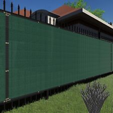 Customize 6'FT Privacy Screen Fence Green Commercial Windscreen Shade Cover Mesh