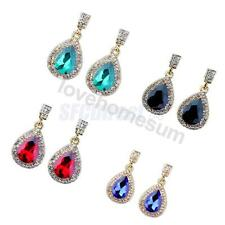 Waterdrop Teardrop Beaded Drop Dangle Stud Earrings Pierced Fashion Jewelry Gift