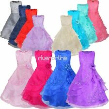 Flower Girls Pageant Party Wedding Bridesmaid Princess Formal Ball Gown Dress
