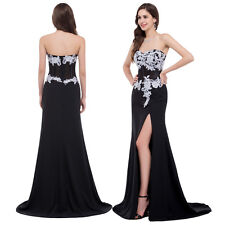 Womens Masquerade Evening Formal Party Cocktail Bridesmaid Prom Long Split Dress