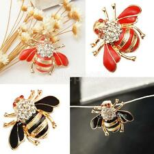 Mens Womens Fashion Cute Crystal Rhinestone Insect Honeybee Brooch Pin Jewelry