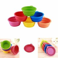 Collapsible Pet Dog Cat Feeding Bowl Travel Portable Silicone Water Dish HT