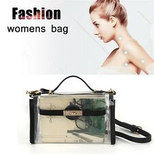 New Fashion Women Transparent Shoulder Bag Clear Handbag Tote Crossbody Bag HT