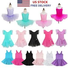 Girls Kids Ballet Dress Gymnastics Skating Leotard Tutu Skirt Dance wear Costume