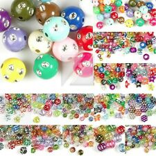 Acrylic Foil Spacer Beads DIY Jewelry Making Bracelet Necklace Mixed 16 Styles