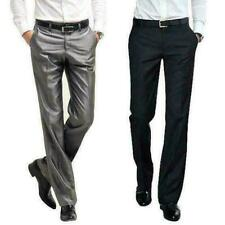 Mens Thin Pants Wedding Formal Casual suit Business Dress Formal trousers