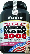 WEIDER Super Mega Mass 2000 Weight Gain 1.5kg- 3kg - free delivery