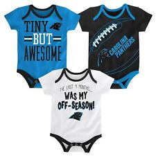 NWT NFL Carolina Panthers Infant Boy's 3-Pack Bodysuits: 0/3-6/9 months