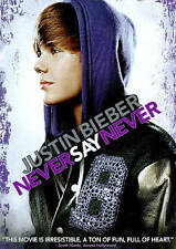 Justin Bieber Never Say Never (DVD, 2011) - Like New