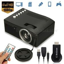HD 1080P Home Theater LED Mini Projector Cinema Multimedia TV HDMI Wifi Miracast