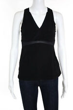 Lululemon Black V Neck Sleeveless Stretch Athletic Tank Top Size 8