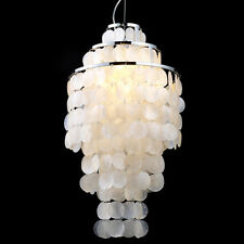Modern White/Pink Mother of Pearl Mini Pendant Light Ceiling Fixture Bedroom New