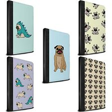 STUFF4 PU Leather Case for Apple iPad Tablet/Cartoon Pug/Dog/Wallet/Cover