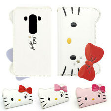 Hello Kitty 3D Star Face Cutie Leather Protect Slim Diary Cover Case For LG G4