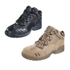 Mens Boots Army Tactical Comfort Leather Combat Military Ankle Work Desert Shoes