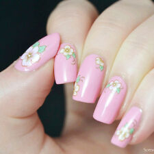 1Sheet Nail Art Manicure Water Decals Transfers Sticker Colored Rose Pattern
