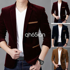 2017 Mens Stylish Coat Jacket Blazer Slim Fit Fashion Casual One Button Suit Hot