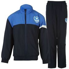 Portsmouth FC 2 Piece Tracksuit Juniors Navy/Blue Football Soccer Top Bottoms
