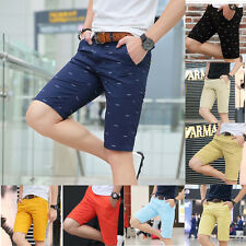 Mens Fashion Slim Shorts Fit Summer Shorts Pants Cotton Short Men's Trousers