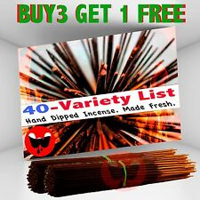 Incense Sticks - 40 scents Variety List, 100 Incense Sticks, Free Shipping in US