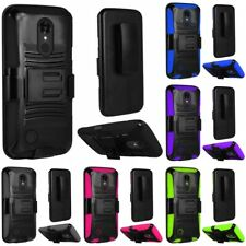 HEAVY DUTY RUGGED ARMOR DUAL LAYER CASE WITH BELT CLIP HOLSTER STAND FOR PHONES