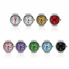 Ring Watch Quartz Finger Watches Rings Gifts Jewelry Steel Ring Watches HT