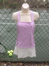 Pure Lime ~ Ladies Shirred Tennis Cami ~ Frosty Lilac ~ Medium ~ New With Tags