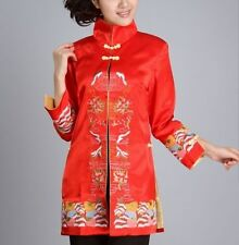 Charming Chinese Women's Silk embroidery jacket/coat red Sz 8 10 12 14 16