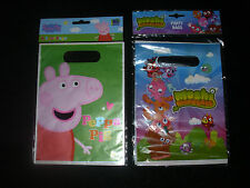 Moshi Monster Peppa Pig Party Loot Treat Bags  - New