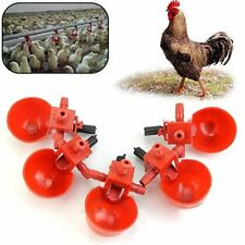 Red Automatic Bird Feed Coop Water Drinking Cup Drinker Poultry Chicken Fowl