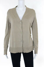 Maison Martin Margiela Beige Cotton Long Sleeve Slim fit Button Front Cardigan 4
