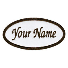 OVAL CUSTOM EMBROIDERED NAME / TEXT TAG PATCH (E)