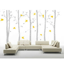 Huge Living Room Wall Decal Decor Forest Trees Birds Removable Vinyl Stickers