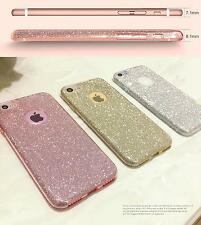 iPhone 7 Case SHINY Bling Crystal Thin Sparkle Premium 3 Layer Semi-Transparent