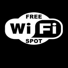 Free WiFi Business Vinyl Decal Sticker Car Window Wall Truck Wireless Store Sign