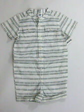 NWT Old Navy Boys Size 6-12 or 18-24 Months Green Striped Shorts Romper