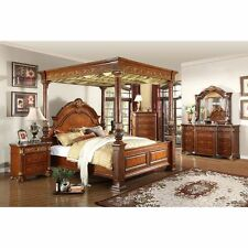 Meridian Furniture USA Royal Canopy Bed- 6 Piece Set  |  FREE SHIPPING