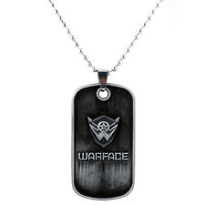 Game Around Warface Chain Pendant Keychain Key Ring Necklace Dog Tag Fans Gift