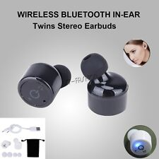 Wireless Bluetooth 4.2 Twins Stereo HD VOICE In-Ear Headset Earphone Earbuds