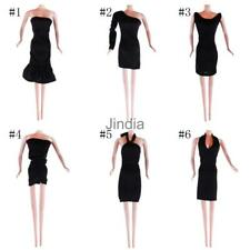 Black Fashion Handmade Party Dress/Clothes/Gown Outfit for Barbie Doll Gift