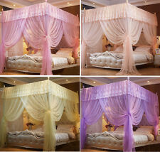 Princess  4 Corner Post Bed Canopy Mosquito Netting Twin Queen King Sizes