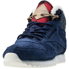 Reebok Classic Mid Outdoor Womens Trainers Blue New Shoes