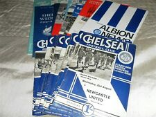 CHELSEA HOME AND AWAY PROGRAMMES FROM 1967/8 - CHOOSE FROM LIST